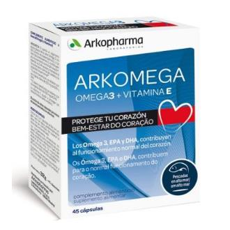 ARKOMEGA Ómega 3+vitamina E – 45 cápsulas – Arkopharma