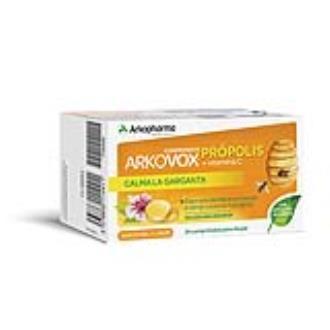 ARKOVOX propolis +vit c sabor miel y limon 24comp.