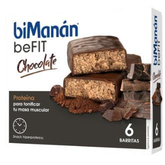 BMN PRO BARRITAS sabor chocolate 6barritas
