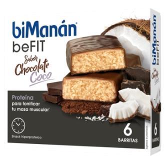 BMN PRO BARRITAS sabor chocolate y coco 6barritas