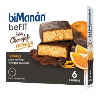 BMN PRO BARRITAS sabor chocolate y naranja 6ud
