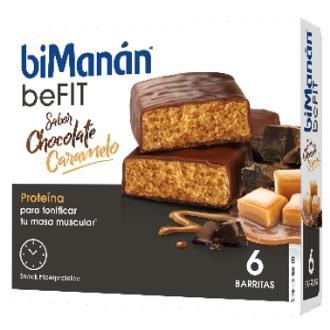 BMN PRO BARRITAS sabor chocolate caramelo 6ud