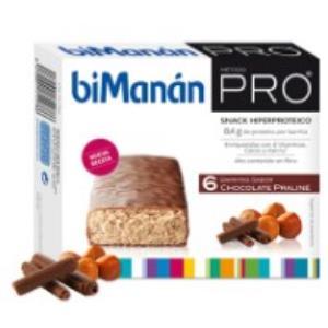 BMN PRO BARRITAS sabor chocolate praline 6barritas