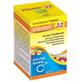 VITAMIN 22 vitaminas-oligo-plantas hombre 60cap.