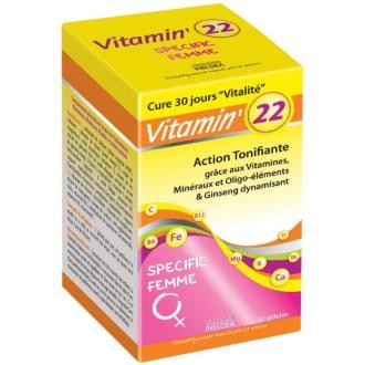 VITAMIN 22 vitaminas-olig-plantas mujer 60cap.
