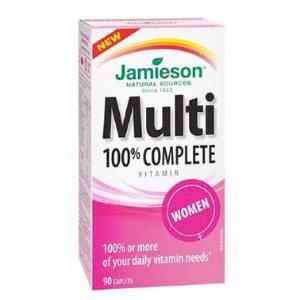 MULTI 100% COMPLETE WOMEN multivitaminas 90comp.