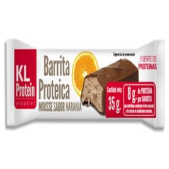 BARRITAS KL PROTEIN naranja-mousse caja 20ud.
