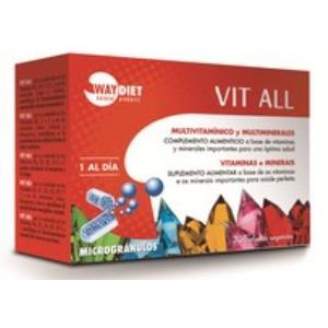 VIT ALL multivit y multimin 30caps. microgranulos