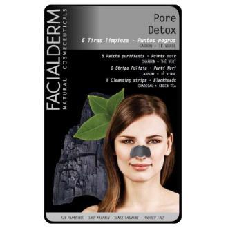 FACIALDERM BLACK NOSE STRIPS detox 5ud.