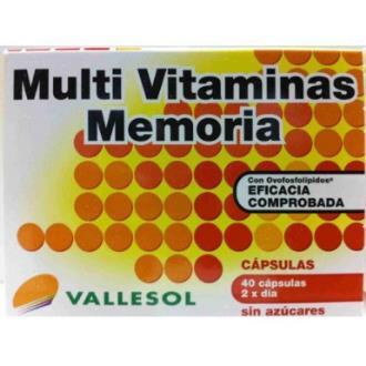 VALLESOL multivitaminico memoria 40cap.